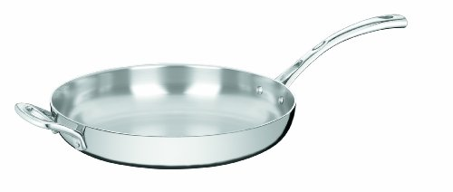 Cuisinart FCT22-30HF French Classic Tri-Ply Stainless 12-Inch French Skillet with Helper Handle (French Skillet Stainless)