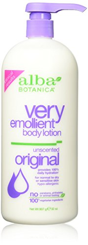 Lotion Botanica Emollient Body Lotion Very Alba Moisturizing (Alba Botanica Very Emollient Body Lotion Unscented - 32 fl oz)