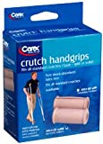 Carex Crutch Handgrips Solid - Pair, Pack of 3