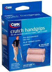 Carex Crutch Handgrips Solid - Pair, Pack of 4