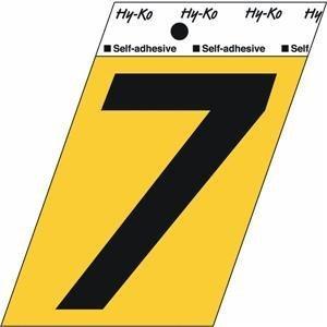 Hy-Ko GG-25/7 3.5'' Black & Gold #7 Self-Adhesive Aluminum Number