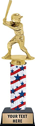 11 Inch Kids Baseball Trophies, Baseball Trophy for Girls with Custom Engraving and Perfect for Baseball Awards Prime ()