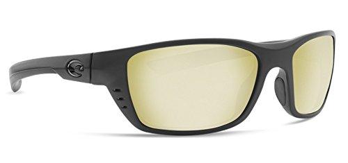 Costa Del Mar WTP01OSSGLP Whitetip Sunrise Silver Mirror 580G Blackout Frame Sunglasses, - Predator Wrap Sunglasses