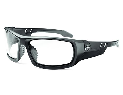 Skullerz Odin Safety Glasses - Matte Black Frame, Clear - Matte Glasses