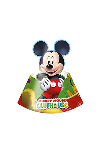 Disney Mickey Mouse Playful Clubhouse 6 Pack Party Hats Card -