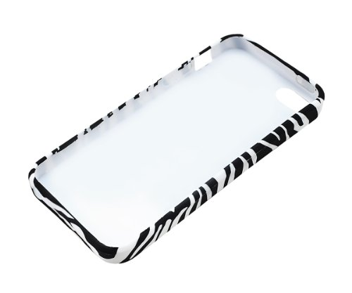 Xcessor Zèbre Coque souple en TPU pour Apple iPhone SE / 5 / 5S. Noir/Blanc