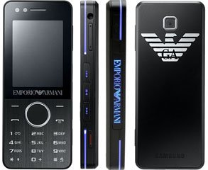 39251e6126e7 BRAND NEW 3G SAMSUNG ARMANI M7500 3.15 Megapixel MOBILE PHONE UNLOCKED - Emporio  Armani Black M 7500 Night Effect boxed  Amazon.co.uk  Electronics