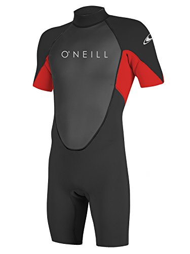 Red Shorty Wetsuit (O'Neill Reactor-2 men's spring 2XL Tall Black/red (5124A))