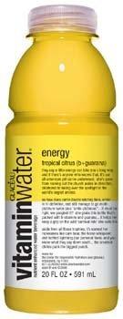 GlacÃau Vitaminwater Energy Tropical Citrus (b+guarana) 20 oz (Pack of 12)