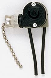 SATCO PRODUCTS GIDDS-SX-0236042 Nickel Pull Chain Canopy Switch, Single Circuit With Metal Chain