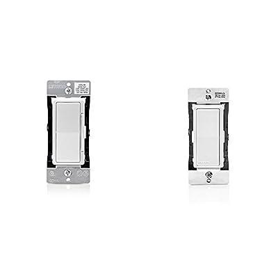 Leviton DDL06-1LZ Decora Digital Dimmer 300-Watt LED & CFL/600-Watt Incandescent & Halogen and Leviton DD0SR-DLZ Dual Voltage 120/277VAC Decora Digital/Decora Smart Matching Switch Remote