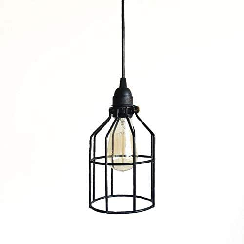 Amazon.com: Black Cage Pendant Industrial Lighting  Kitchen Island Bar Drop Light, Metal light