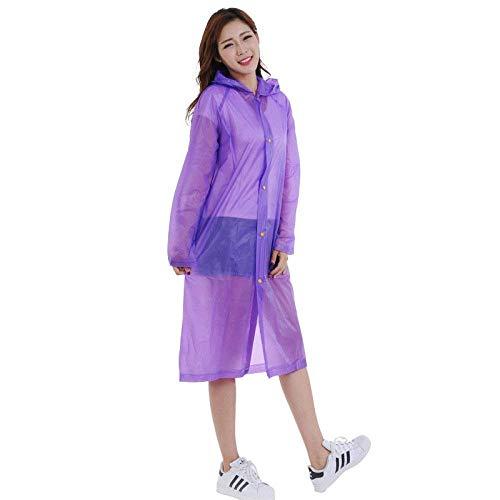 Portatile Impermeabile Arrampicata Ragazza Viola Moda Pvc Turismo Outdoor Purple Poncho Chic Adulto Escursionismo qEdUwBzd