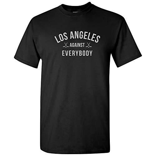 (Los Angeles Against Everybody - Hockey Team City Hometown Pride T Shirt - X-Large - Black )
