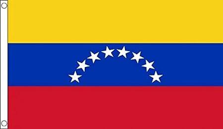 AZ FLAG Bandera de Venezuela SIN Escudo 150x90cm - Bandera VENEZUELANA SIN Armas 90 x 150 cm: Amazon.es: Jardín