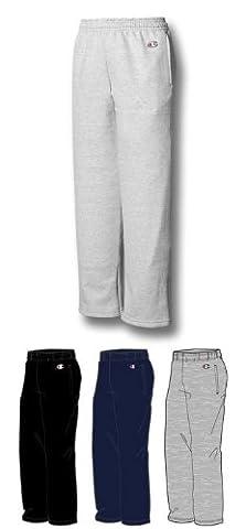Champion Big Boys' Open Bottom Pant, Oxford Heather Grey, X-Large - Champion Oxford Sweatpants