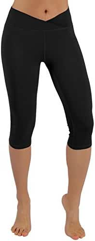 ODODOS Power Flex Yoga Capris Pants Tummy Control Workout Running 4 way Stretch Yoga Capris Leggings
