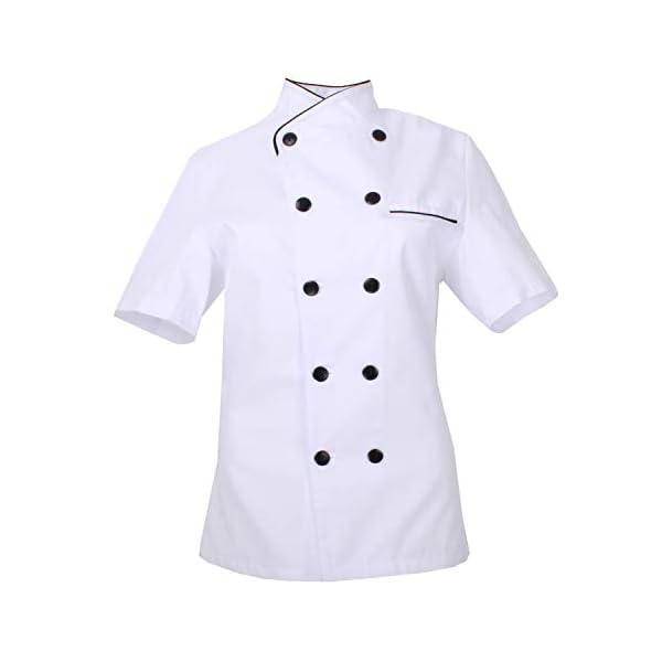MISEMIYA - Chaquetas Chef Uniforme COCINERA MARMINTÓN SOLLASTRE GUISANDERO ADOBADOR Salsero- Ref.8441 1