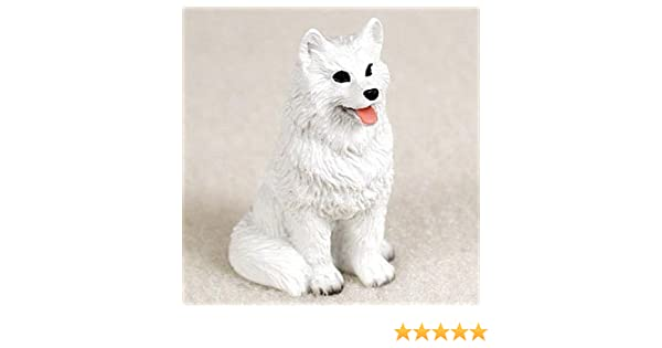 American Eskimo Figurine Hand Painted Collectible Statue