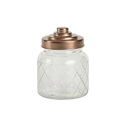 Entramado jarra de cristal con acabado de cobre tapa 600 ml –  tarro de cristal Vintage T & G Woodware Ltd