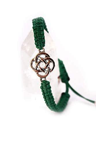 Pulsera celta, Pulsera de protección, Amuleto, Talisman, Nudo celta, Druida, Nudo sin fin celta, Brazalete celta, Símbolo celta, Druida, Lohas: Amazon.es: Handmade