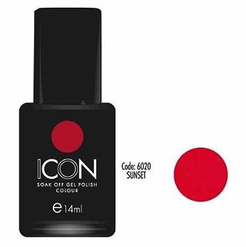 Icon Soak Off Uv Gel Polish 14ml Sunset Bright Red Orange Cuccio Uv
