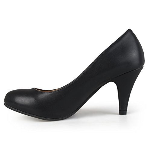 Pictures of Brinley Co Women's Yung Dress Pump Black Smooth 8.5 M US 6