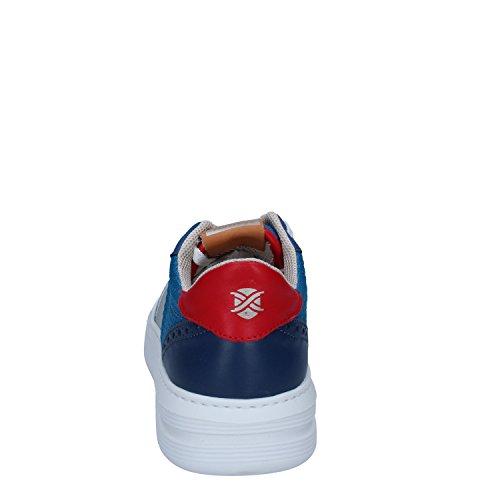 Bianco Brimarts Pelle Blu Sneakers Tessuto Uomo xqXgwXOYz
