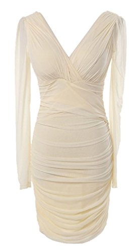 Party Evening Sleeve Dress Short Women's Yellow Long Drasawee Cocktail Bodycon TSYXcx4