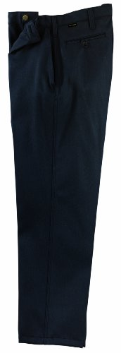 Workrite 400NX75NB28-XX Flame Resistant 7.5 oz Nomex IIIA Industrial Pant, 28 Waist Size, Open Inseam, Navy Blue