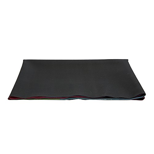 The Combo Yoga Mat 1 mm. TRAVEL VERSION. Lightweight, Ultra-Foldable, Non-slip, Mat/Towel Designed to Grip Better w/ Sweat! Machine Washable, Eco-Friendly. Just Fold & Go! (C Green)