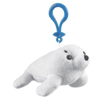 Harp Seal Plush Stuffed Animal Backpack Clip Toy Keychain Wildlife Hanger ()
