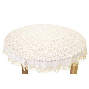 Tischdecke Outdoor Tischdecke Fur Gartentisch Rund In Beige O160cm