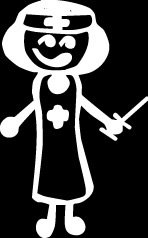 Nurse Doctor Stick Figure Family stick em up White vinyl Die Cut vinyl Decal sticker for any smooth surface