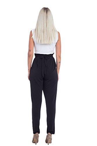Overall en Hecho 4 para Colores Abbino Pantalones Flexible Fiesta Delicado Venta Transición Elegante Mujer Joven Moderno 8224 Suaves Italiano Invierno Blanco Otoño Mujeres Sensibilidad FxWfwwAq