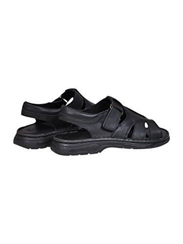 Herren Bequeme Sandalen Schuhe Mit Der Orthopadischen Einlage Aus Echtem Buffelleder Hausschuhe Modell 835 Schwarz