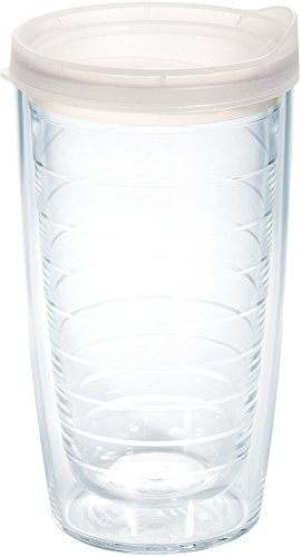 Tervis 1078621 Clear & Colorful Insulated Tumbler with Frosted Lid 16 oz Tritan Clear