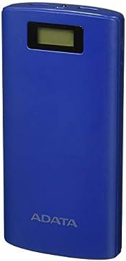 ADATA Powerbank Batería Portatil Color Azul Marino 20000 mAh con Pantalla Digital (Modelo P20000D)