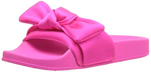 Steve Madden Girls' JSILKY Slide Sandal, hot Pink, 4 M US Big Kid