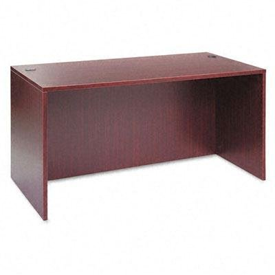 Alera - Valencia Series Straight Front Desk Shell 59-1/8W X 29-1/2D X 29-1/2H Mahogany ''Product Category: Office Furniture/Desks''