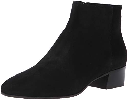 Aquatalia Women's Fuoco Suede Ankle Boot, Black, 7.5 M US