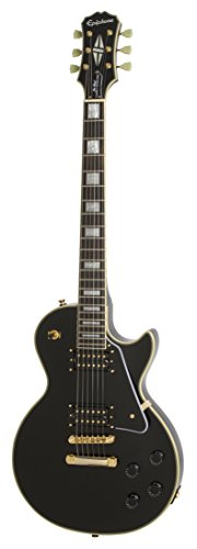 Epiphone 6 String Ltd Ed Les Paul Classic Custom PRO (GH), Black, Jumbo (ENCIEBGH3)