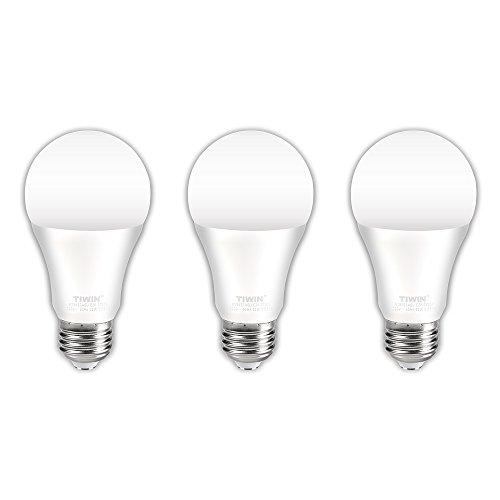 TIWIN A19 E26 LED Bulbs 100 watt Equivalent (11W),Soft White (2700K), 1100lm, CRI80+, General Purpose Light Bulb,UL Listed, 3-Pack