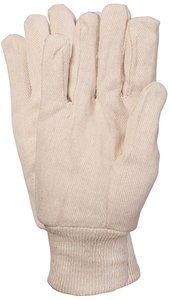 OS Series 510 White Cotton Canvas Knit Wrist Body Guard Work Glove Pair, (Package of 12)