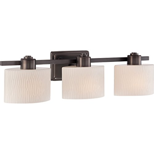 Quoizel Lighting Signature Brushed Bronze 3 Light Bath Vanity Light QX3156W ()