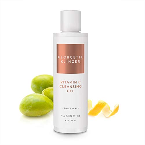 Georgette Klinger Vitamin C Cleansing Gel - Non-Foaming Face Wash & Anti-Aging Facial Cleanser for All Skin Types to Clarify, Brighten & Reduce Dark Spots with Kakadu Plum & Natural Citrus Extracts (Best Vitamin E Gel)