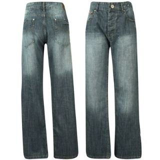 Lee Cooper Bootcut Jeans Mens Dk Wash 34W L: Amazon.co.uk: Clothing