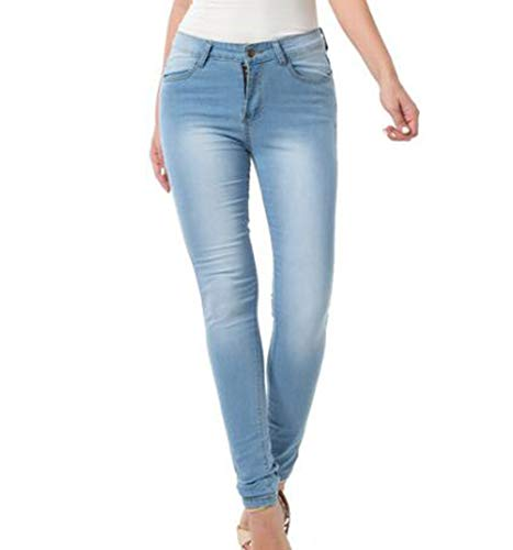 A Cielo Di Keephen Cerniera Vita Slim Denim Blu Allungare Alta Da Pantaloni Jeans Fit I Donna 6PPRxEnwqg