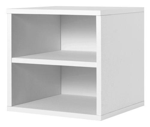 Foremost - Estantería modular con sistema de almacenamiento de cubos, Blanco, Pequeño 15 pulg, 1