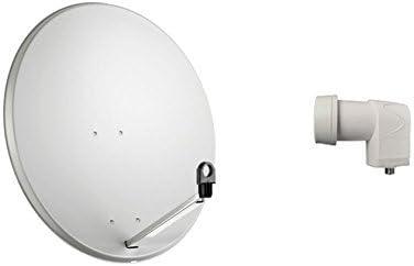 Kit Antena parabólica 80 cm. Iluminador convertidor LNB 1 ...
